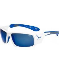 Cebe Ice 8000 lunettes de soleil bleu blanc brillant
