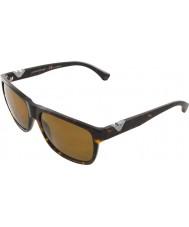 Emporio Armani Ea4035 58 moderne havane foncé 502683 lunettes de soleil polarisées