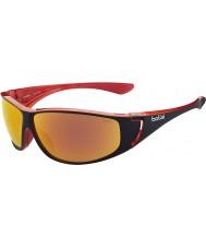 Bolle Highwood brillant rouge lunettes de soleil de feu de tns polarisée noir