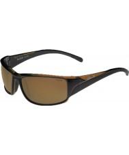 Bolle Keelback brillantes brunes polarisées ag-14 lunettes de soleil