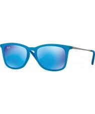 RayBan Junior Rj9063s 48 fluos azur transparent caoutchouc 701155 lunettes de soleil miroir