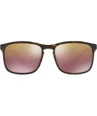 RayBan Rb4264 58 technologie chromance mat havane 894-6b lunettes de soleil miroir brun polarisées