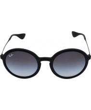 RayBan Rb4222 50 jeunesses lunettes de soleil 622-8g en caoutchouc noir