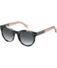 Tommy Hilfiger Ladies e 1291-ns MBR 9o vert lunettes de soleil roses havane