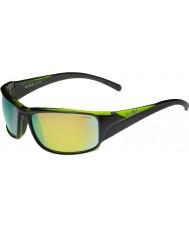 Bolle Keelback brillant vert polarisés des lunettes de soleil d'émeraude brun noir