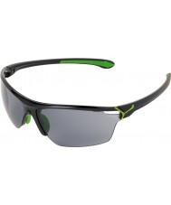 Cebe CINETIK grandes lunettes de soleil vert noir brillant