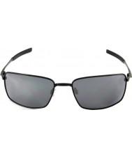 Oakley Oo4075-01 fil carré poli noir - lunettes de soleil iridium noir