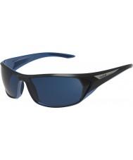 Bolle bleu lunettes de soleil Blacktail brillant noir polarisées mer bleu