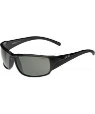 Bolle modulateur noir brillant Keelback lunettes de soleil polarisées gris