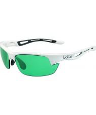 Bolle brillant Competivision blanc lunettes de soleil de tennis de pistolet de Bolt