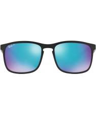 RayBan Rb4264 58 technologie chromance noir mat 601sa1 lunettes de soleil polarisées flash bleu