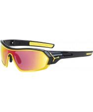 Cebe S-impression brillant lunettes de soleil jaune noir