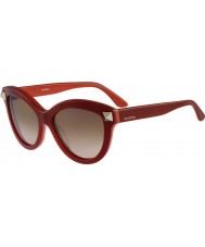 Valentino Ladies v695s lunettes rouges anglais