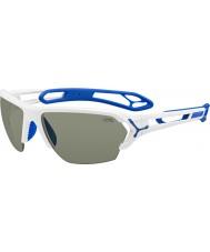 Cebe S-piste grandes lunettes de soleil blanches brillantes