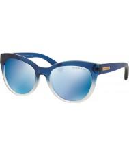 Michael Kors Mk6035 53 mitzi i bleu ombré 312255 lunettes de soleil miroir bleu