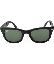 RayBan RB4105 50 pliage wayfarer mat 601S noir des lunettes de soleil
