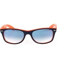 RayBan RB2132 52 nouveau top wayfarer bleu-orange, des lunettes de soleil 789-3f
