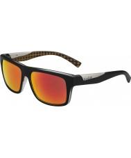 Bolle Clint mat noir orange lunettes de soleil polarisées tns d'incendie