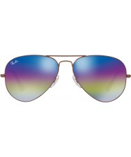 RayBan RB3025 58 aviator grand métal lunettes de soleil bronze foncé de 9019c2