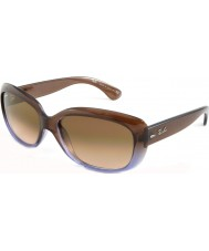 RayBan Rb4101 58 jackie gradient ohh brun lilas 860-51 lunettes de soleil