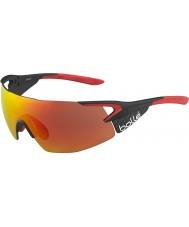 Bolle 5ème élément pro carbone mat brillant lunettes de soleil tns rouge de feu