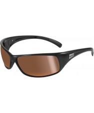 Bolle Recoil brillantes polarisés des lunettes de soleil d'or intérieures noires