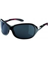 Bolle Grâce brillant corail noir lunettes de soleil polarisées de tns