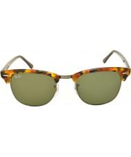 RayBan RB3016 51 clubmaster tacheté noir havane 1157 lunettes de soleil