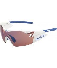 Bolle 6ème sens blanc brillant rose lunettes de soleil bleu