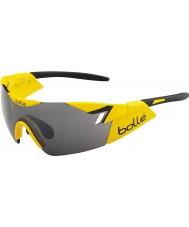 Bolle 6ème sens brillant jaune tns noir des lunettes de soleil d'armes à feu