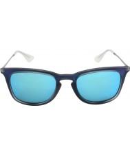 RayBan Rb4221 50 jeune abattu caoutchouc bleu 617055 lunettes de soleil