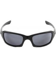 Oakley Oo9238-04 fives carré noir poli - lunettes de soleil gris