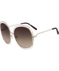 Chloe ce126s Ladies or rose et lunettes de soleil brunes