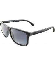 Emporio Armani Ea4033 56 gris 5229t3 en caoutchouc noir moderne de lunettes de soleil polarisées
