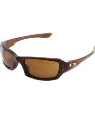 Oakley Oo9238-07 fives carré rootbeer poli - lunettes de soleil bronze foncé