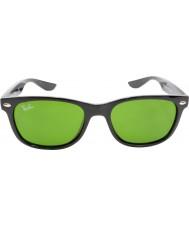 RayBan Junior Rj9052s 47 nouveaux wayfarer noir brillant 100-2 lunettes de soleil