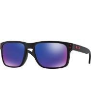 Oakley Oo9102-36 holbrook noir mat - rouge lunettes de soleil iridium