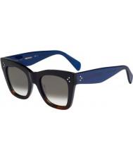 Celine Mesdames cl 41090-s qlt z3 havane lunettes de soleil noir bleu