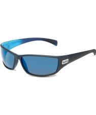 Bolle Python noir mat bleu gb-10 polarisées lunettes de soleil