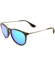 RayBan Rb4171 54 erika noir 601-55 bleu miroir lunettes de soleil