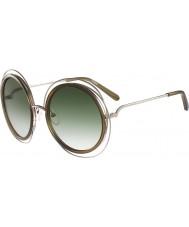 Chloe Mesdames ce120s lunettes de soleil d'or kaki carlina