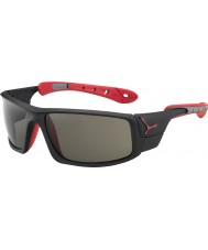 Cebe Ice 8000 mates variochrom rouge noir des lunettes de soleil de pointe