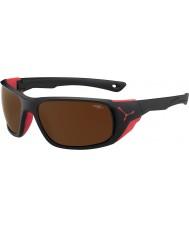 Cebe Jorasses grandes noir rouge 2000 brun éclair lunettes de soleil miroir mat