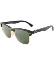 RayBan Rb4175 57 clubmaster surdimensionnées demi noir brillant or 877 lunettes