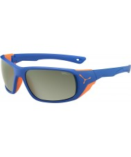 Cebe Jorasses grande mat orange bleu lunettes de soleil miroir variochrom pic flash