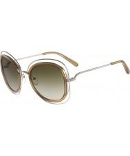 Chloe Ladies 'Carlina lunettes de soleil d'or brillant