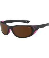 Cebe Jorasses mat moyenne noir rose 2000 brun éclair lunettes de soleil miroir