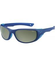 Cebe Jorasses mat moyenne lunettes de soleil miroir sombre variochrom bleu pic flash