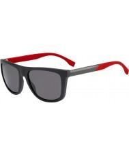 HUGO BOSS Mens boss 0834-s hws 3h lunettes de soleil polarisées rouge gris foncé