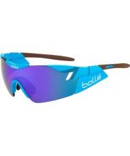 Bolle 6ème sens ag2r brun lunettes de soleil bleu-violet brillant